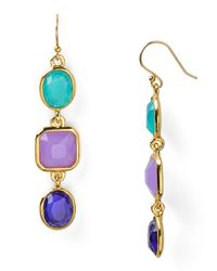 kate spade new york - Purple Coated Confetti Linear Earrings - Lyst