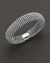 Lagos - Metallic Caviar Oval Link Bracelet - Lyst