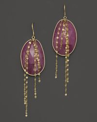 Lana Jewelry | Purple Pink Sapphire Stone Cascade Earrings | Lyst