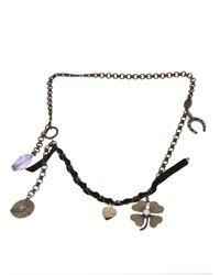 Lanvin | Metallic Short Charm Necklace | Lyst