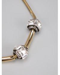 Lanvin | Metallic Crystal Ball Necklace | Lyst