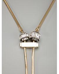Lanvin - Metallic Crystal Choker - Lyst