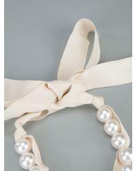 Lanvin | White Pearl Bracelet | Lyst