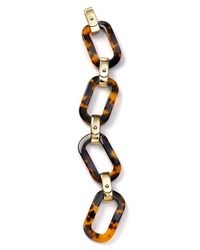 Lauren by Ralph Lauren - Metallic Tortoise Shell Large Link Bracelet - Lyst