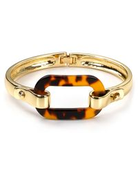Ralph Lauren | Metallic Lauren Tortoise Shell Link Bangle Bracelet | Lyst