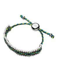 Links of London | Green Friendship Bracelet | Lyst