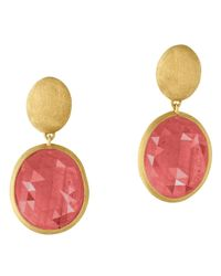 Marco Bicego | 18k Yellow Gold Siviglia Pink Sapphire Earrings | Lyst