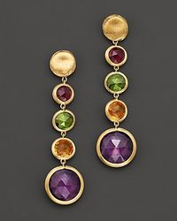 Marco Bicego | Jaipur 18 K Yellow Gold And Multi-stone Drop Earrings | Lyst