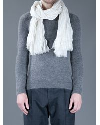 Neil Barrett - White Crinkle Scarf for Men - Lyst