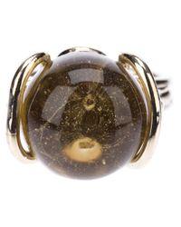 Nina Ricci - Metallic Bead Ring - Lyst
