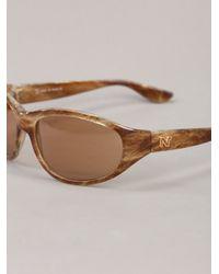 Nina Ricci - Brown Round Sunglasses - Lyst