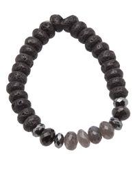 Ocnarf Sairutsa - Gray Multi Bead Bracelet - Lyst