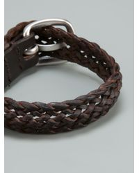 Orciani - Brown Vintage Woven Bracelet for Men - Lyst