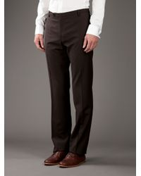 Patrizia Pepe - Brown Wool Trouser for Men - Lyst