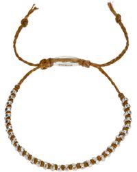 Paul Smith - Brown Bead Bracelet for Men - Lyst