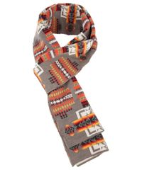 Pendleton | Gray Patterned Scarf for Men | Lyst