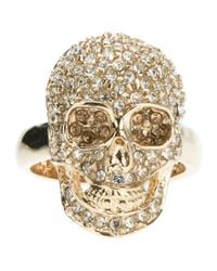 Philipp Plein | Metallic Embellished Skull Ring | Lyst
