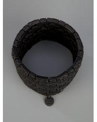Philippe Audibert - Black Basket Weave Bracelet - Lyst