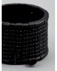 Philippe Audibert | Black Maddison Beaded Crystal Cuff | Lyst