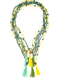 Rada' | Multicolor Beaded Tassel Necklace | Lyst