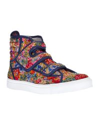 Raf Simons | Multicolor Contrast Hitop Sneaker for Men | Lyst
