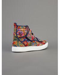 Raf Simons | Multicolor Contrast Hitop Sneaker for Men | Lyst