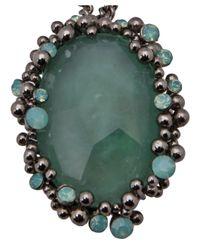 Roberto Cavalli - Metallic Pendant Necklace - Lyst