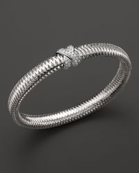 Roberto Coin | 18k White Gold Primavera Bangle | Lyst