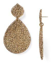 Roni Blanshay | Metallic Large Mesh Teardrop Earrings | Lyst