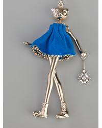 Servane Gaxotte - Metallic Bear Doll Pendant - Lyst