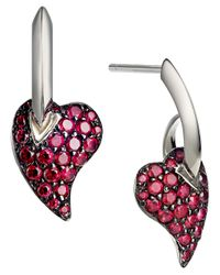 Shaun Leane | Metallic 'Hook My Heart' Earrings | Lyst