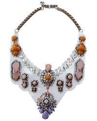 Shourouk | Multicolor Crystal Encrusted Necklace | Lyst
