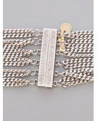 Silvia Gnecchi - Metallic Multi Chain Necklace - Lyst