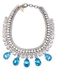 Silvia Gnecchi - Metallic Crystal Pendant Necklace - Lyst