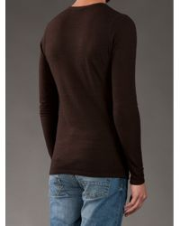 Societe Anonyme - Brown Breast Pocket Jumper for Men - Lyst