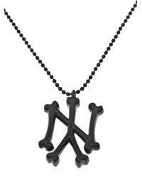 SSUR | Black Ny Bones Necklace for Men | Lyst
