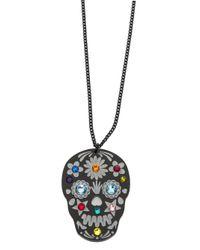 Tatty Devine - Black Sugar Skull Necklace - Lyst