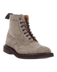 Tricker's - Gray Stow Shale Ankle Boot for Men - Lyst