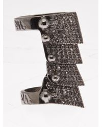 Vivienne Westwood - Metallic Armour Ring - Lyst