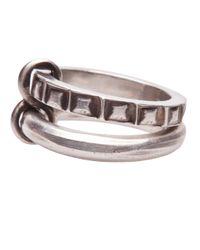 Werkstatt:münchen - Metallic Connected Ring - Lyst