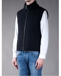 Z Zegna - Black Quilted Gilet for Men - Lyst