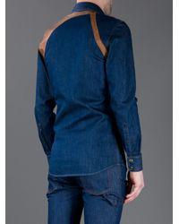 Alexander McQueen | Blue Buckle Detail Shirt for Men | Lyst