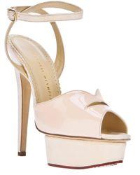 Charlotte Olympia | Natural Platform Stiletto Sandal | Lyst