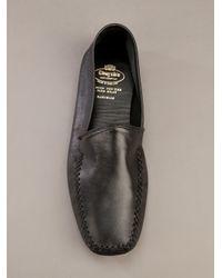 Church's   Black Leather Slipper for Men   Lyst