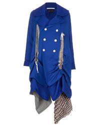 Comme des Garçons | Blue Layered Trench Coat | Lyst