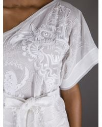 Emilio Pucci - White Embroidered One Shoulder Top - Lyst