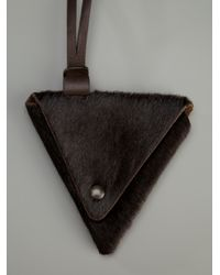 Emporio Armani - Brown Pouch Necklace - Lyst