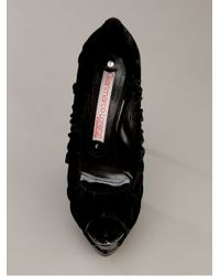 Gianmarco Lorenzi - Black Peep Toe Platform - Lyst