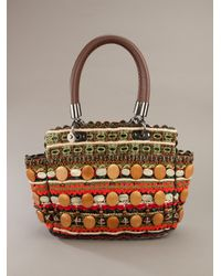 Jamin Puech - Red Woven Tote - Lyst