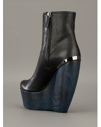 Lanvin | Blue Wedge Ankle Boot | Lyst